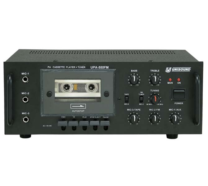 PA CASSETTE PLAYER AMPLIFIERS - UPA550FM